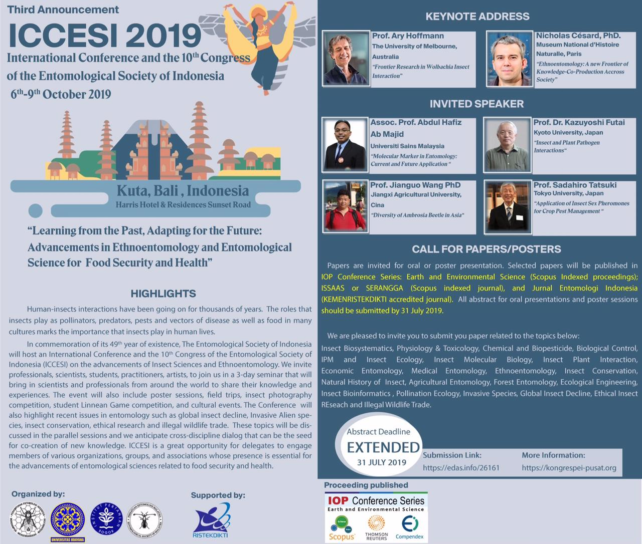 Perhimpunan Entomologi Indonesia - Menghimpun, Mengembangkan